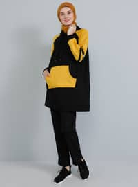 Mustard - Navy Blue -  - Tunic