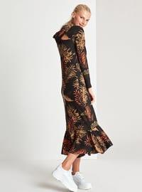 Black - Floral - Unlined -  - Dress