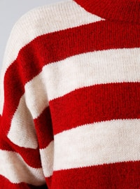 Coral - Stripe - Crew neck - Acrylic -  - Jumper