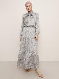 Bej - Pembe - Çok Renkli - Balıkçı Yaka - Astarsız Kumaş - Elbise