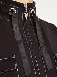 Viscose - Crew neck - Black - Sweat-shirt