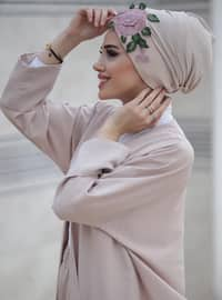 Beige - Powder - Simple - Bonnet