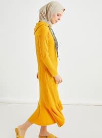 Hardal - Astarsız kumaş - - Elbise