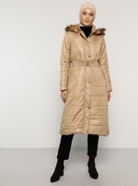 Mink - Fully Lined - Polo neck - Coat