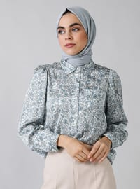 Blue - Shawl - Point Collar - Tunic