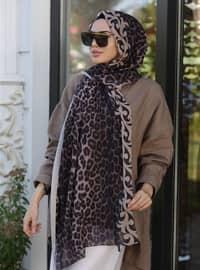 Beige - Leopard - Shawl