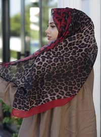 Red - Leopard - Shawl