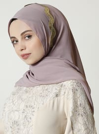 Gold - Powder - Plain - Shawl