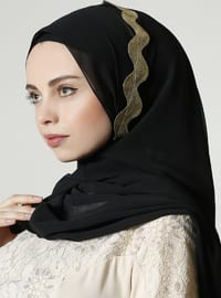 Gold - Black - Plain - Shawl