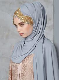 Gold - Gray - Litho - Shawl