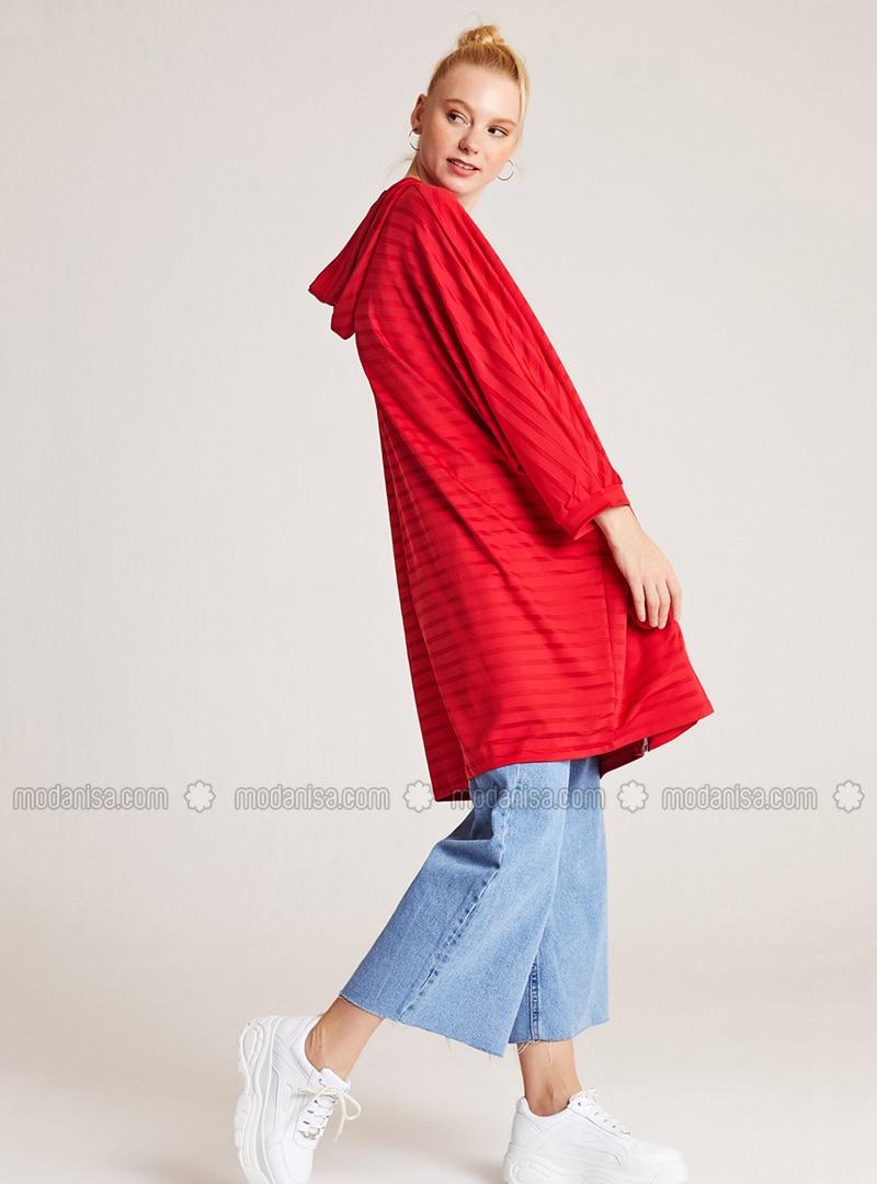 Stripe - Red - Sweat-shirt