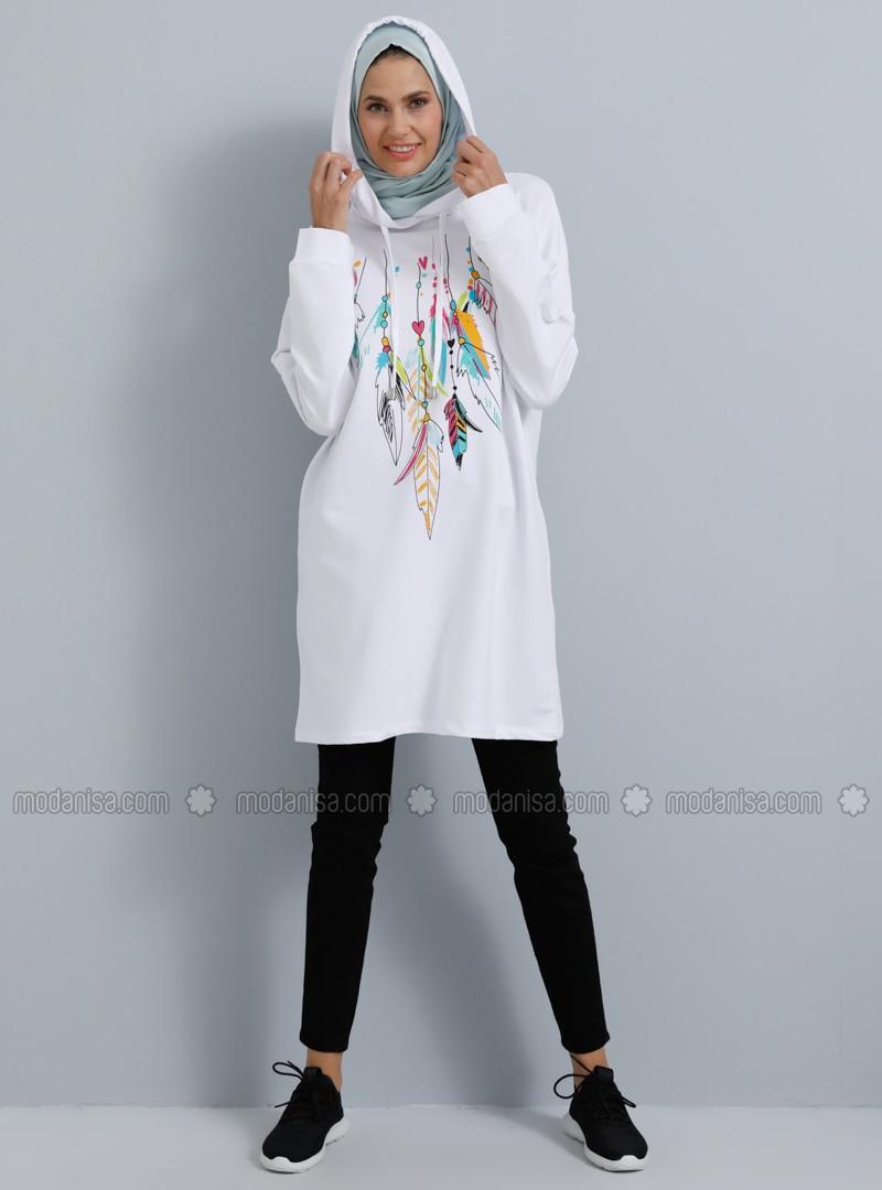 White - Multi -  - Tunic