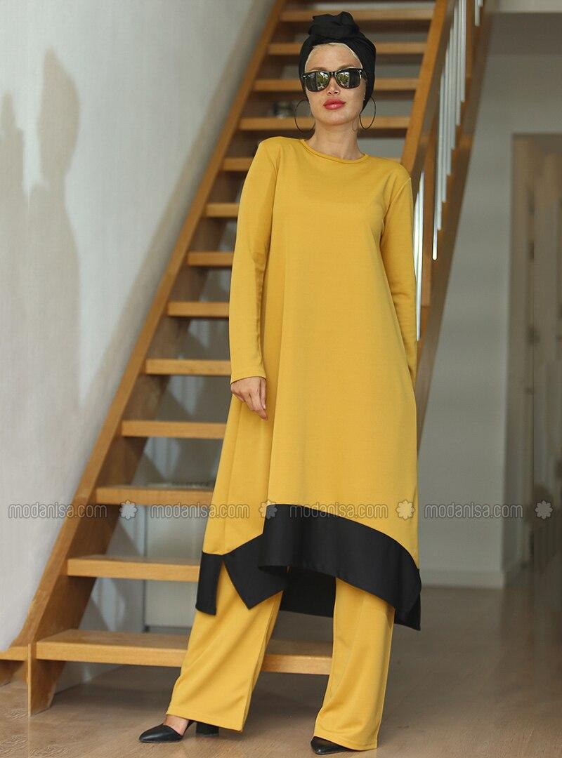 Mustard - Black - Unlined - Suit