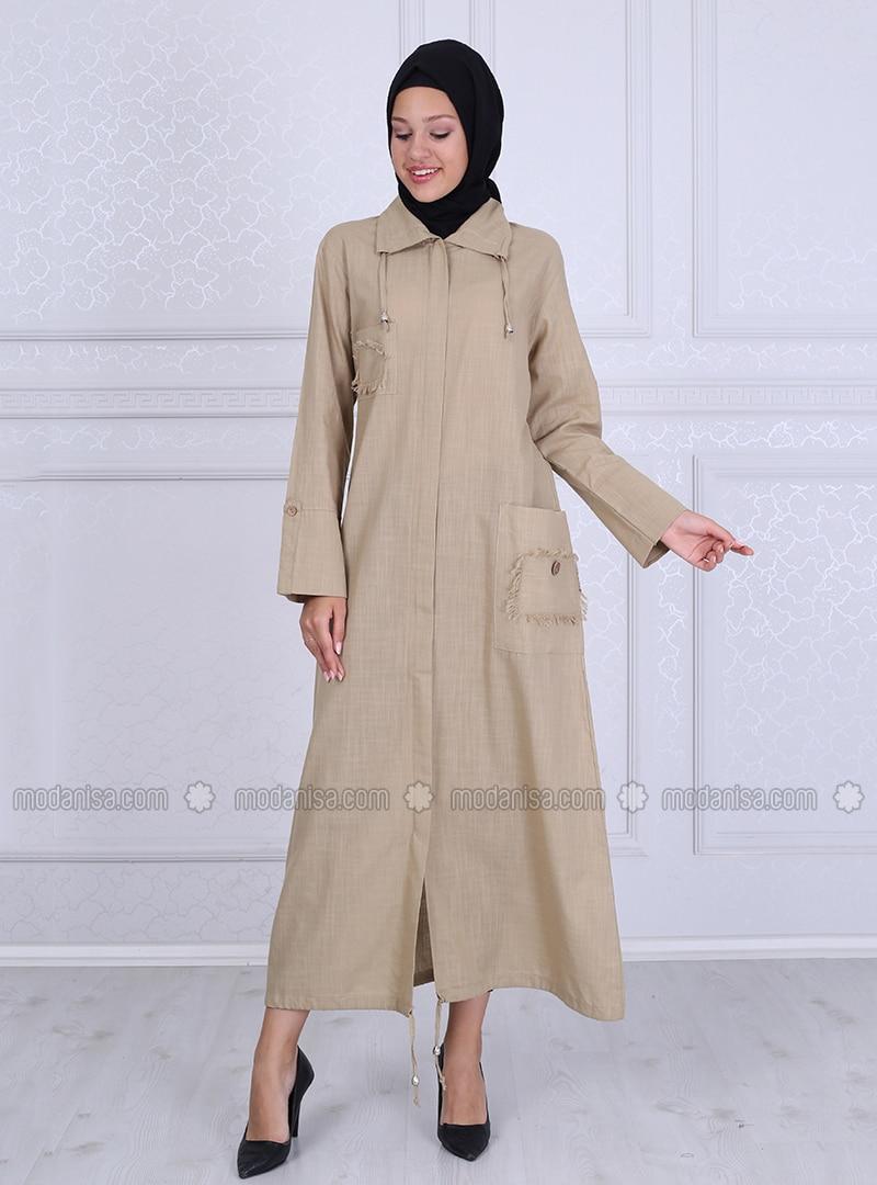 Mink - Unlined - Point Collar -  - Abaya