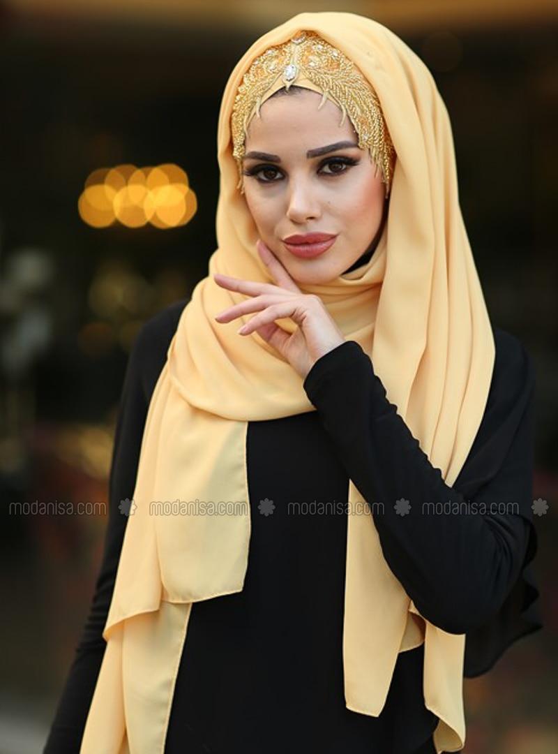 Gold - Mustard - Litho - Shawl