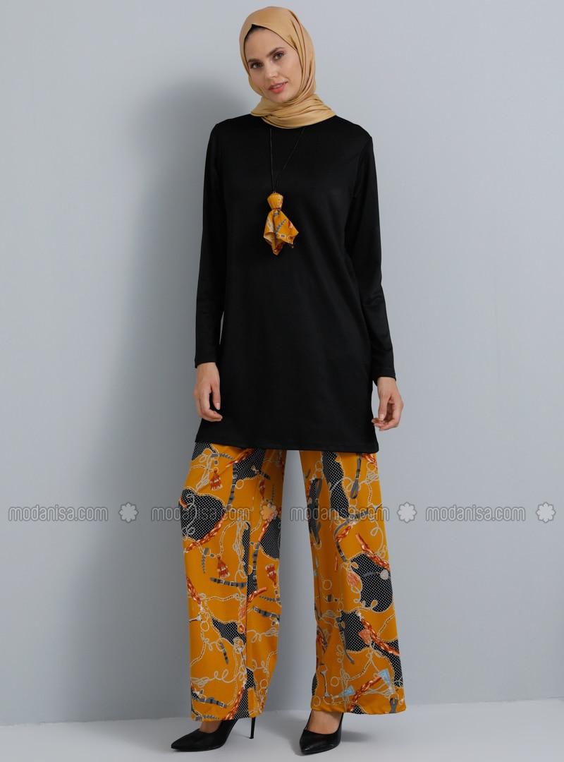 Mustard - Floral - Unlined - Suit