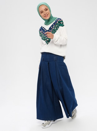 Navy Blue - Denim -  - Pants
