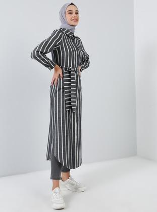 White - Ecru - Black - Dress