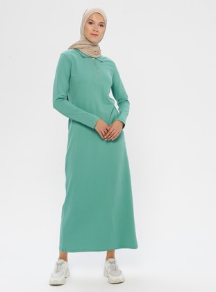 Mint - Point Collar - Unlined -  - Dress