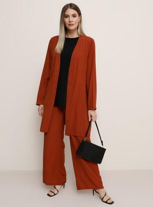 Terra Cotta - Unlined - Plus Size Suit
