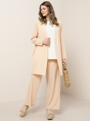 Salmon - Unlined - Plus Size Suit
