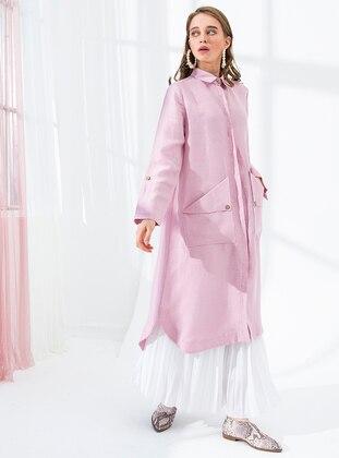 Dusty Rose - Unlined - Point Collar - Linen - Topcoat