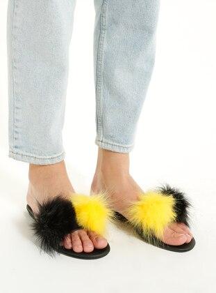 Maroon - Yellow - Sandal - Slippers