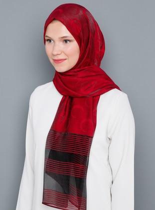 Red - Black - Plain - Shawl