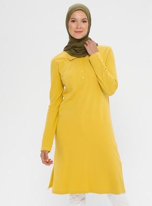 Mustard - Point Collar -  - Tunic