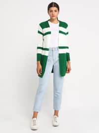 Green - Shawl Collar - Acrylic -  - Cardigan