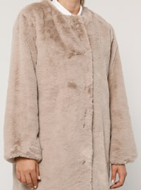 Mink - Fully Lined - Plus Size Overcoat