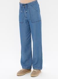 Blue - Denim - Lyocell -  - Pants