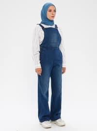 Navy Blue - Denim -  - Pants