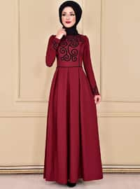 Maroon - Dress