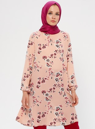 Powder - Floral - Crew neck - Tunic