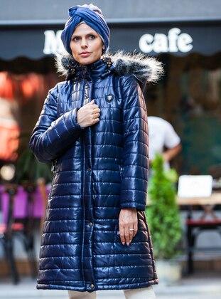 Navy Blue - Fully Lined - Coat