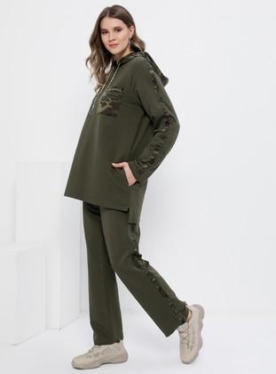 Khaki - Unlined -  - Plus Size Suit