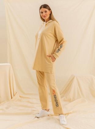 Brown - Unlined -  - Plus Size Suit