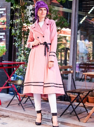 Dusty Rose - Unlined - V neck Collar - Coat
