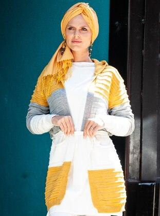 Mustard - Acrylic -  - Wool Blend - Cardigan