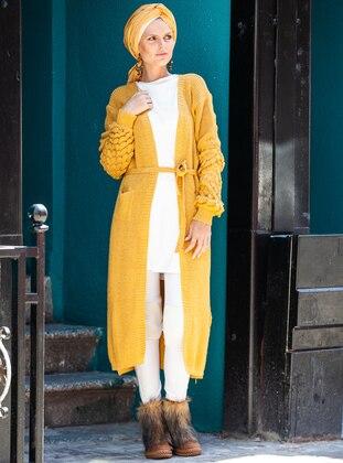 Mustard - Yellow - Acrylic -  - Cardigan