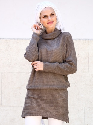 Mink - Polo neck - Acrylic -  -  - Tunic