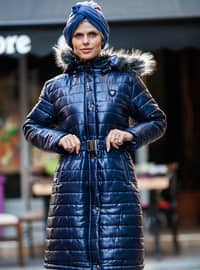 Navy Blue - Fully Lined - Coat