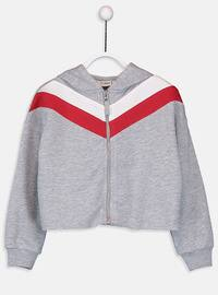 Gray - Girls` Sweatshirt