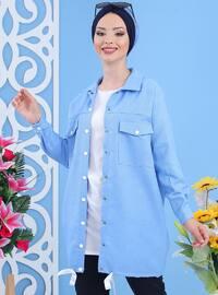 Blue - Point Collar -  - Tunic