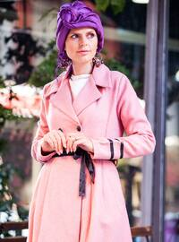 Dusty Rose - Unlined - V neck Collar - Coat