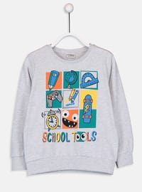 Crew neck - Gray - Boys` T-Shirt