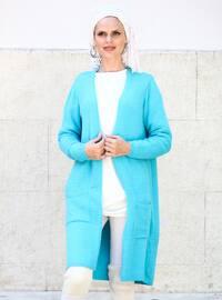 Blue - Acrylic -  - Cardigan