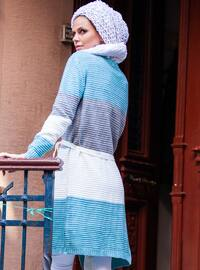 Blue - Acrylic -  - Wool Blend - Cardigan