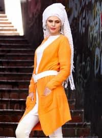Orange - Acrylic -  - Cardigan